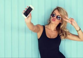 Young woman posed for a selfie